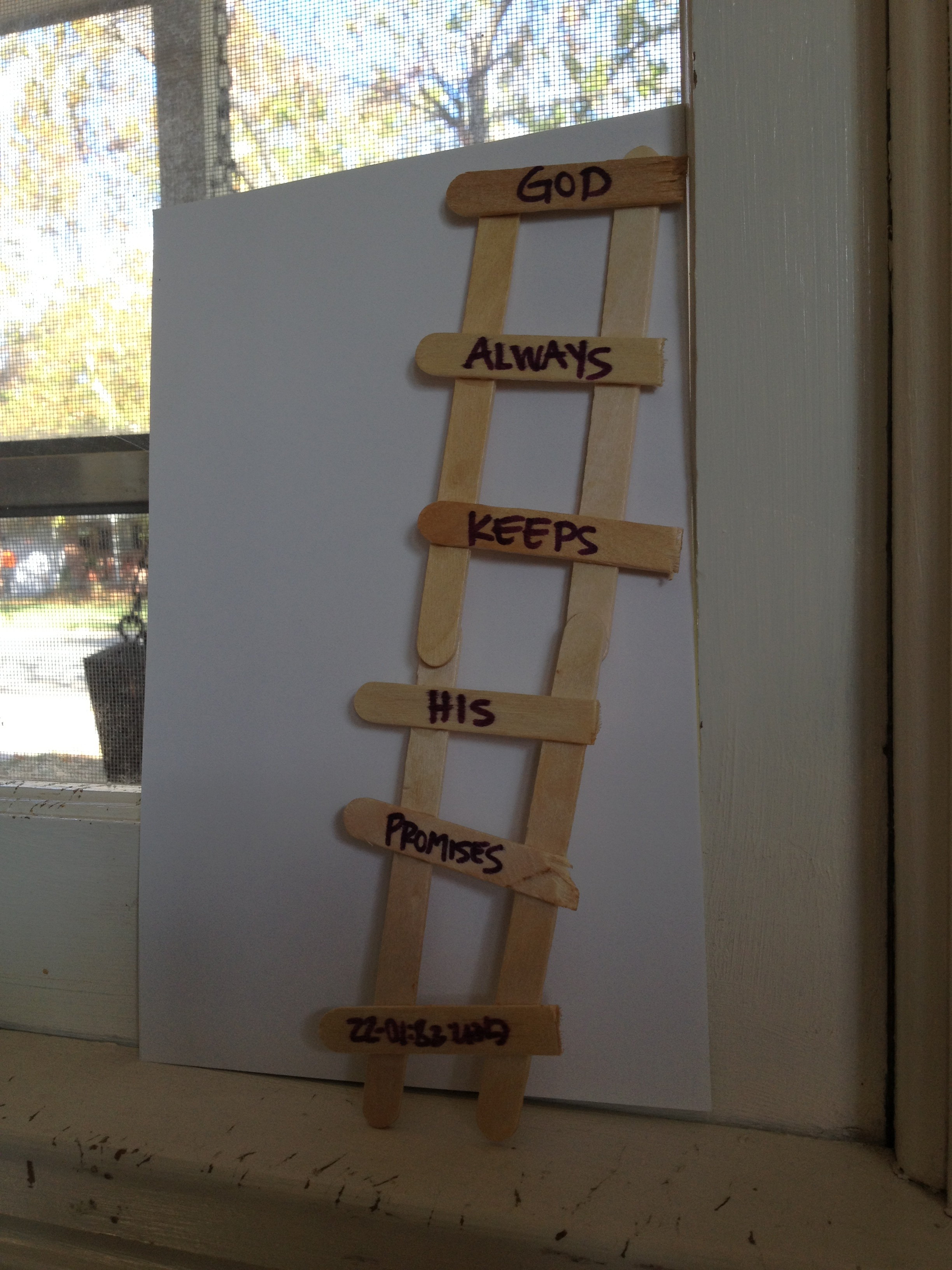 Jacob's Ladder Craft http://grace-full-mom.com/tag/jacobs-ladder-preschool-sunday-school-lesson/